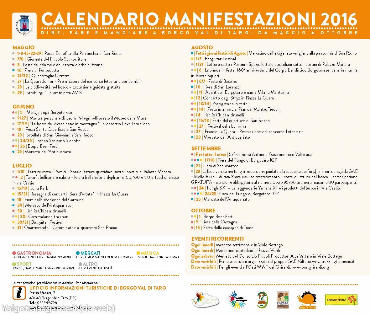 Borgo val di taro pr nuova brochure informazioni for Calendario fiere 2016