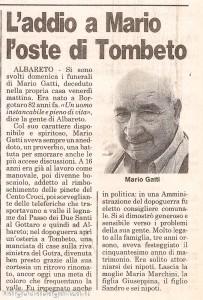 Gatti Mario (1913 – 1995) articolo giornale