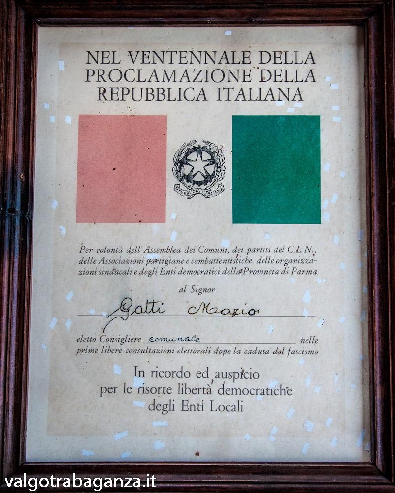 Gatti Mario quadro  ventennale Proclamazione della Repubblica Italiana