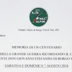 Memoria di un Centenario Don Giovanni Stefanini Borgotaro