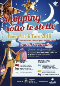 Shopping sotto le stelle Borgotaro