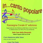 Coro Tre Fonti VI Rassegna corale in..canto popolare
