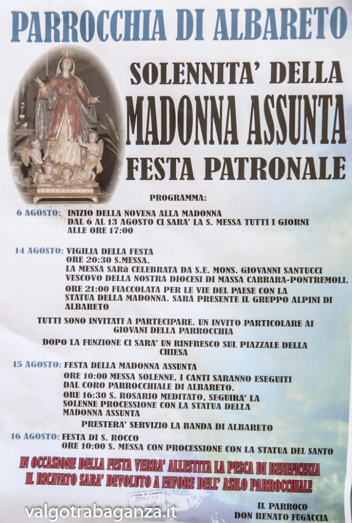Solennità della Madonna Assunta ad Albareto