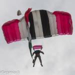 Paracadutisti (483) volo atterraggio Fiera Borgotaro