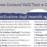 Unione Comuni Valli Taro e Ceno Distribuzione incarichi Assessori