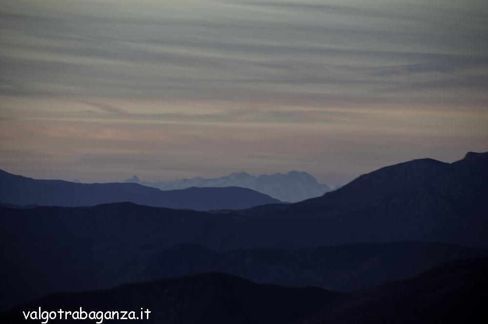 Monte Rosa Cervino dal Monte Gottero
