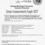 Corso riconoscere funghi 2017