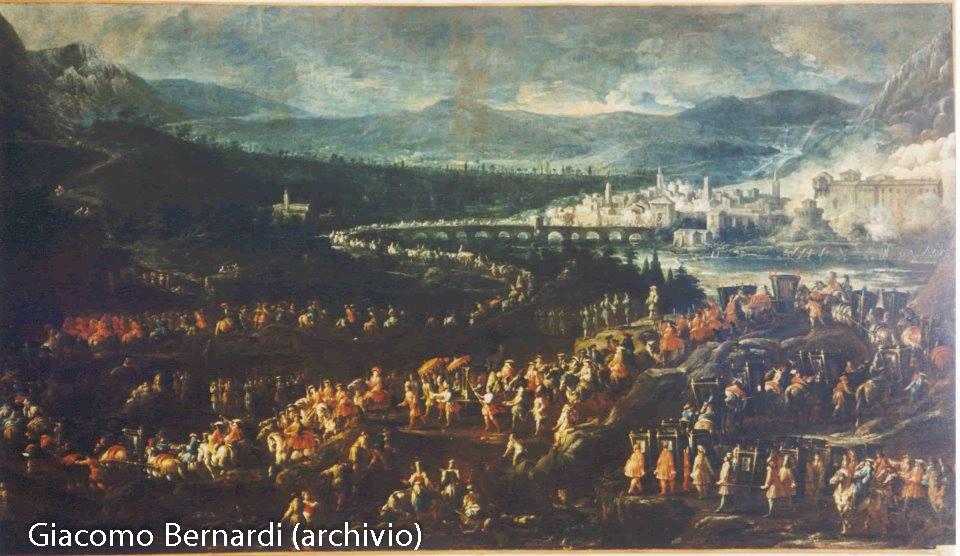 Ilario Spolverini arrivo di Elisabetta a Borgotaro