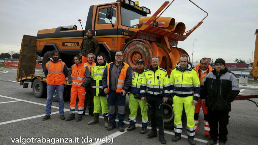 Provincia di Parma aiuto terremotati sotto neve 1
