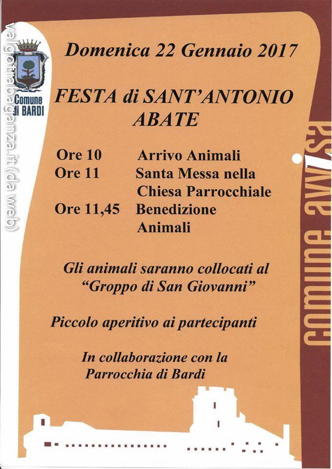 Sant antonio abate a bardi parma 22 gennaio 2017 for Arredo bimbo sant antonio abate