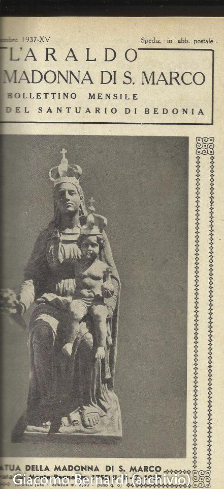 Bernardi Statua della Madonna sul Monte Penna